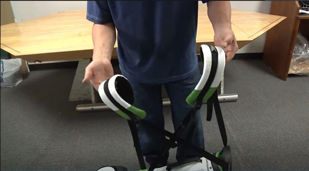 how to adjust X-strap shoulder strap